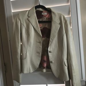 June brand cream colored leather jacket